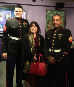 Middlesex County Civil Assignment Supervisor, Josephine Marchetta, with the Marines